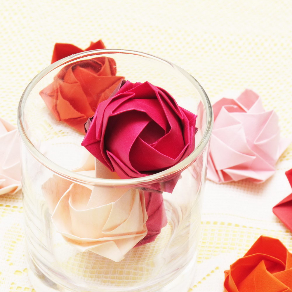 Marturii de nunta realizate prin arta origami