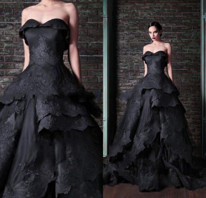 Rochie neagra de mireasa