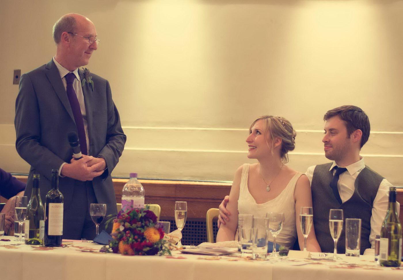 Despre discursul de nunta al tatalui miresei