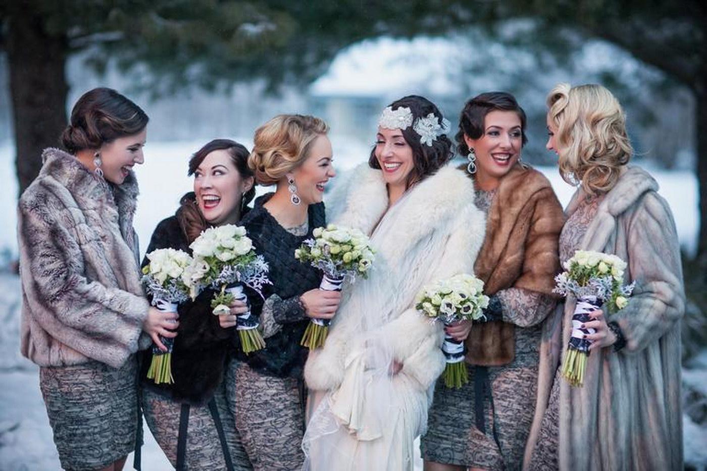 Fotografii artistice de nunta facute iarna