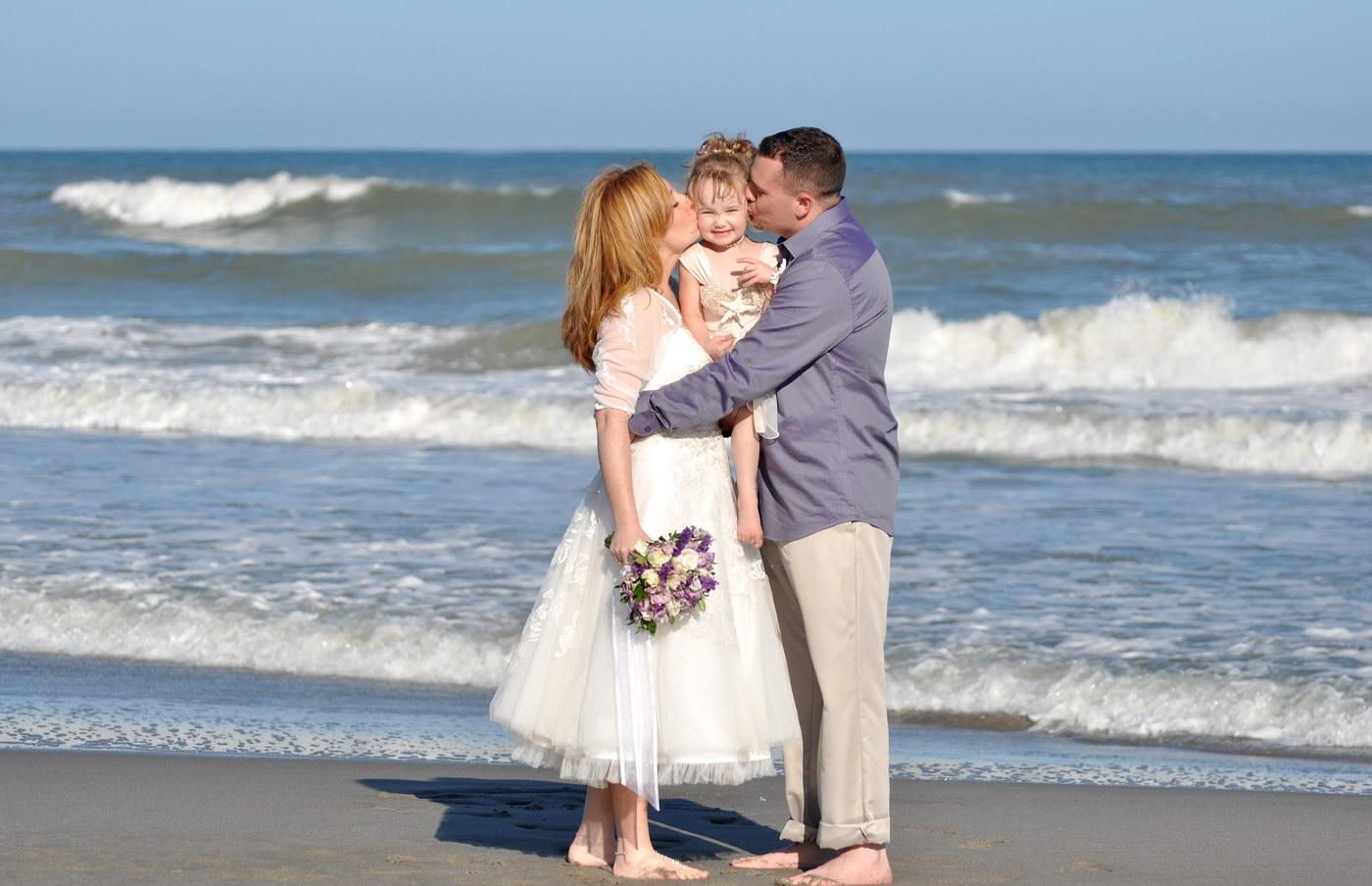 Fotografii artistice de nunta facute pe plaja