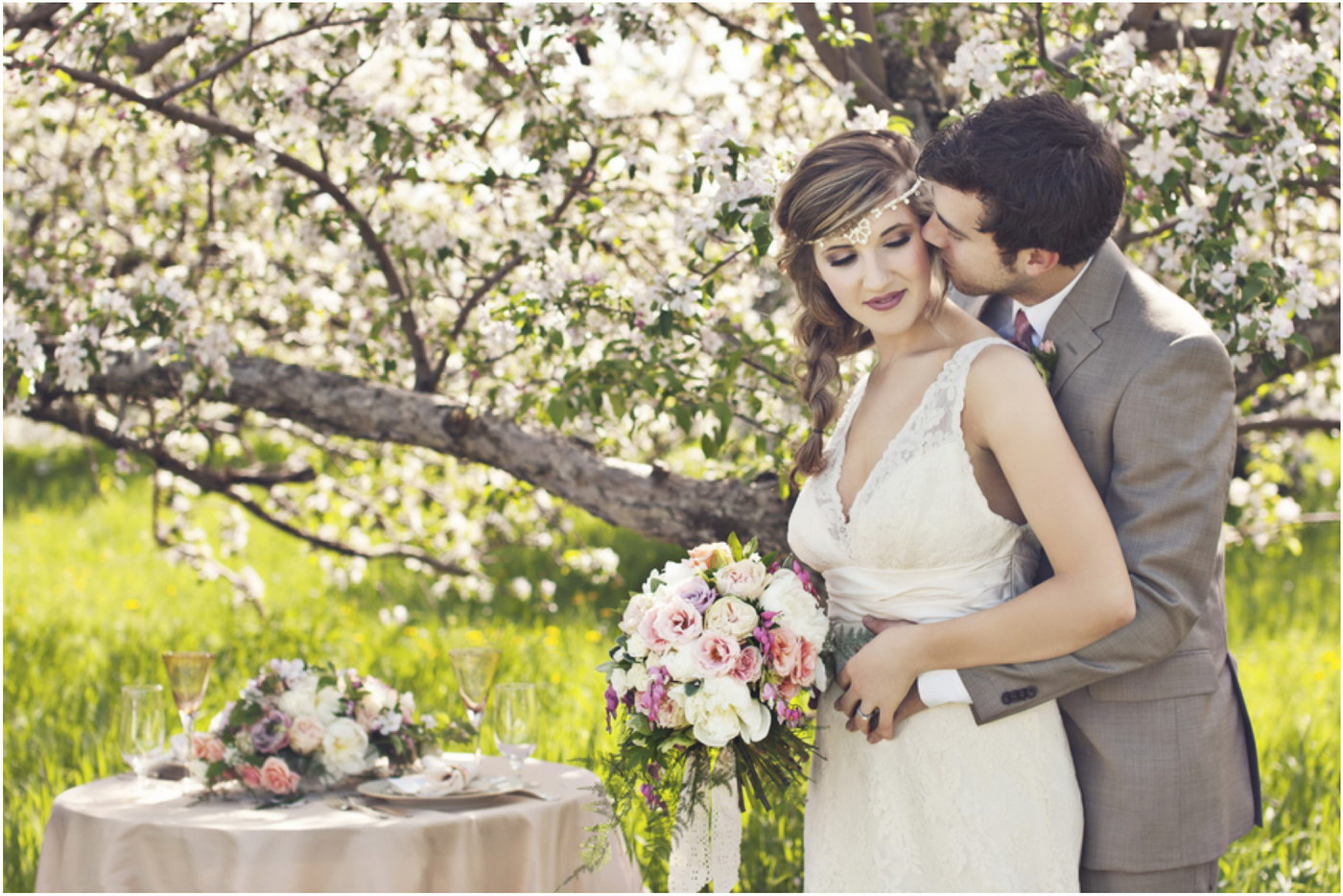 Fotografii de nunta facute primavara
