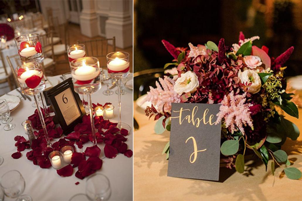 Tort de nunta cu petale in interior si afara