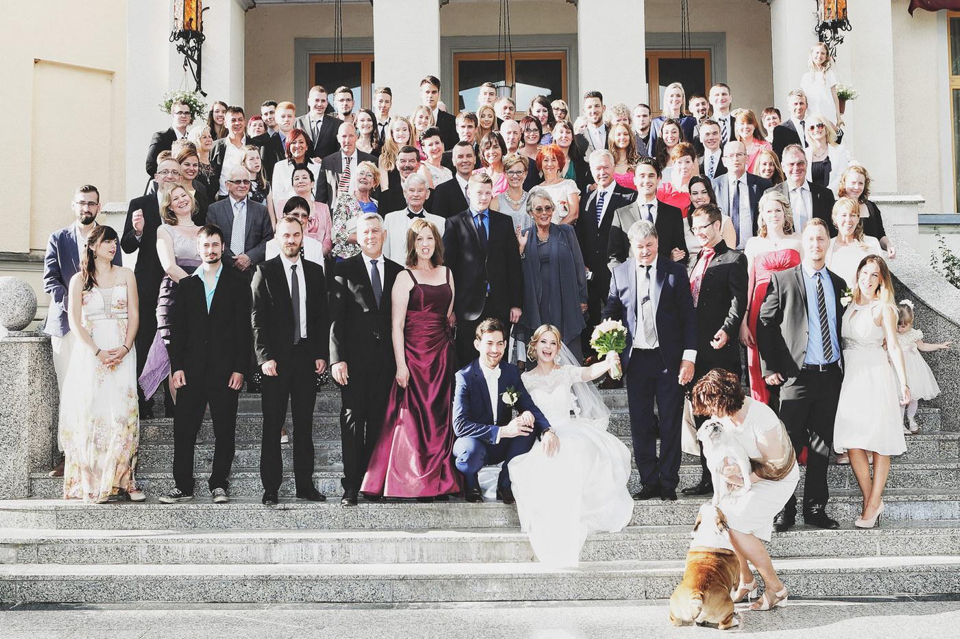Prezenta fostilor parteneri la nunta