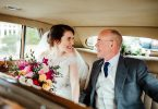 Mireasa si tatal ei in fotografiile de nunta