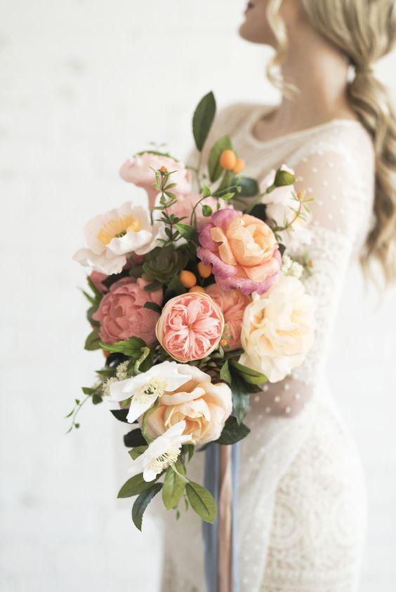 Flori de hartie - buchet de mireasa
