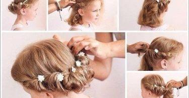 Coafuri pentru fetite potrivite de nunta