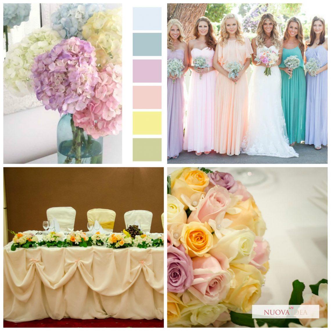 Combinatii culori: nuante de albastru si roz - ILNA