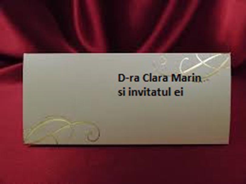 Ce scrii pe plicurile invitatiilor pentru nunta