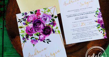 Idei de invitatii de nunta care are loc vara