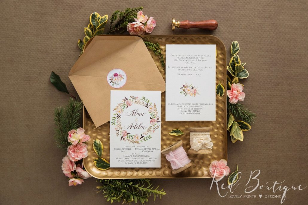 Idei de invitatii de nunta pentru anotimpul vara