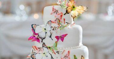 Un tort cu totul special – tort decorat cu fluturi