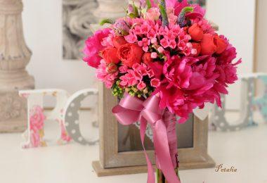 Aranjamentele florale de nunta cu bujori