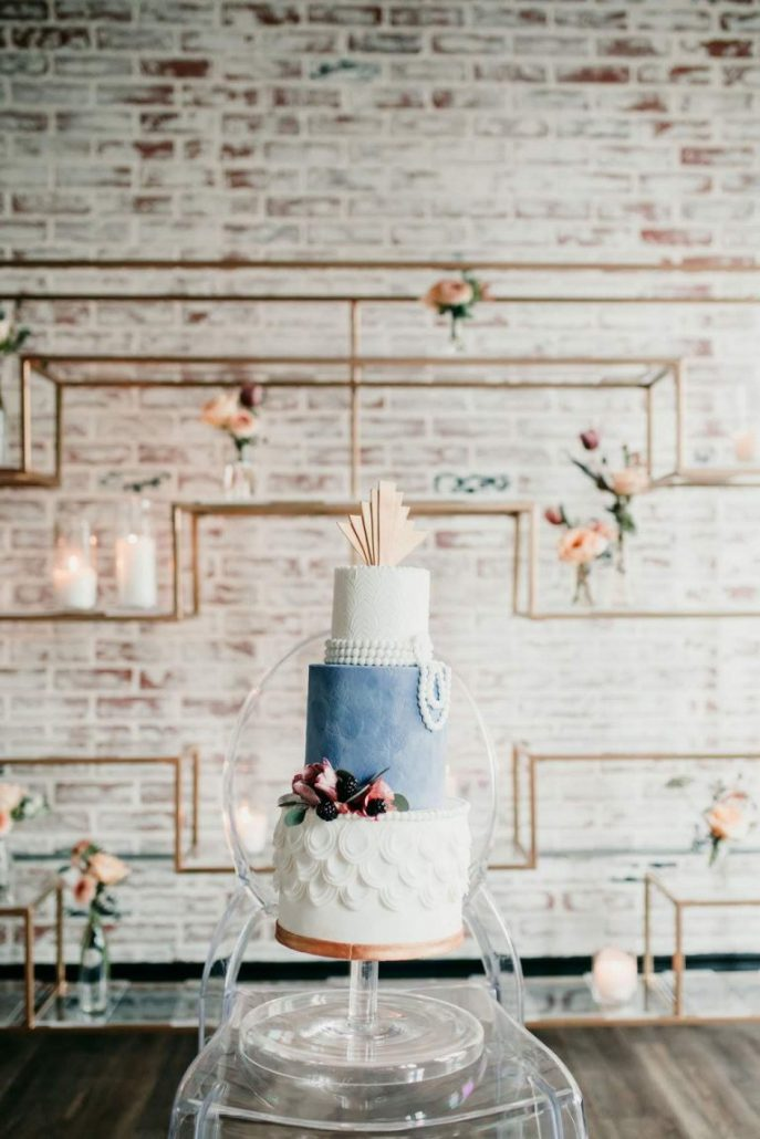 Nuntă art deco cu catifea albastră