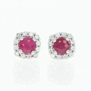 Cerceii cu rubin o pata de culoare la nunta ta